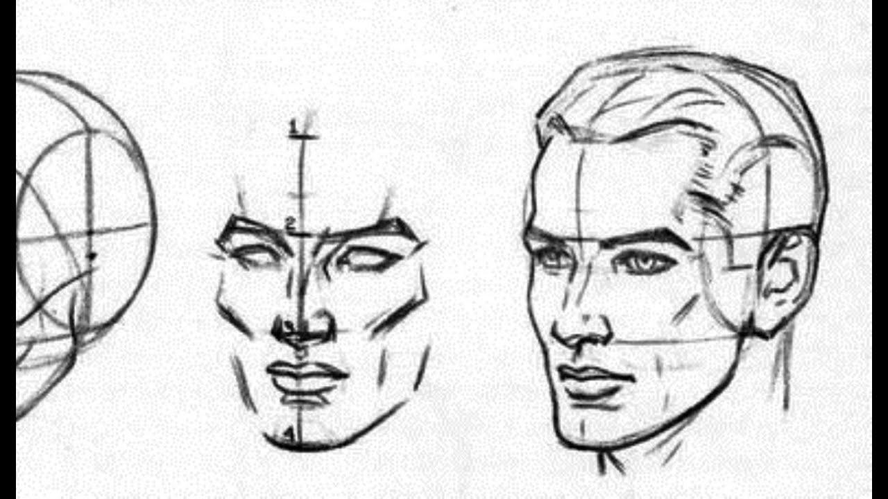 учимся рисовать портрет человека:
