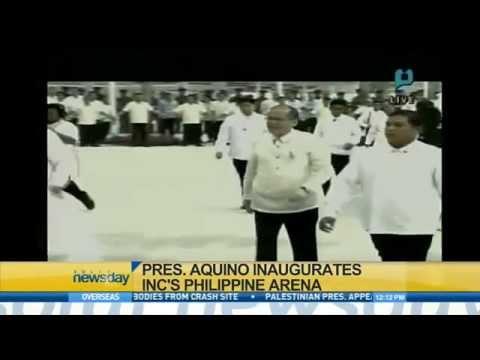 President Aquino Inaugurates INC's Philippine Arena