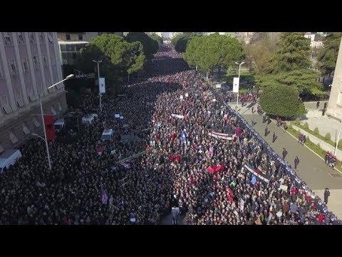 News24 Albana - Protesta e Opozites