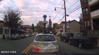 Following the GOOGLE Street View Car