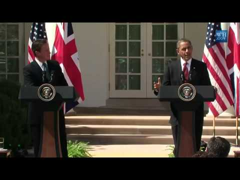 Obama And David Cameron At White House