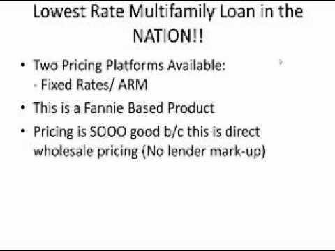 New Multi-Family Loan Program Pt.1
