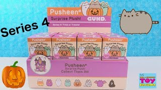 Pusheen Series 4 Halloween Trick Or Treats Surprise Plush Gund Toy Review | PSToyReviews