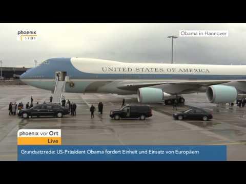 Obama-Besuch in Hannover: Abflug des US-Präsidenten Barack Obama am 25.04.2016