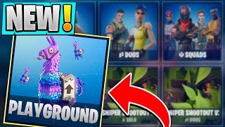 *NEW* Fortnite PLAYGROUND Mode! | Gameplay Details! ( Practice LTM )