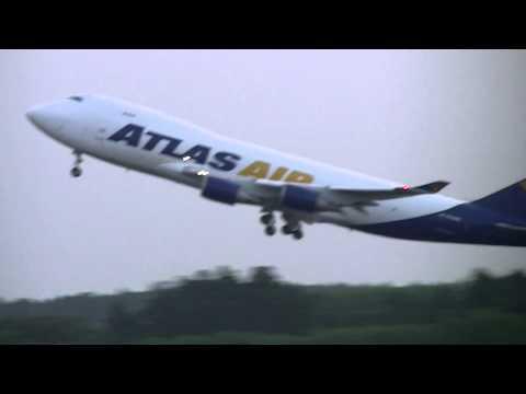 2014/07/12 Atlas Air 747-47UF/SCD N498MC Narita Airport take Off