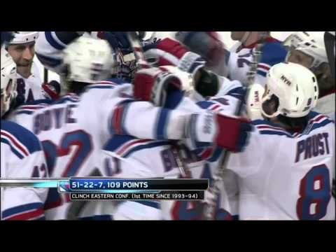 Henrik Lundqvist robs Simmonds 2nd time. NY Rangers vs Philadelphia Flyers 4/3/12 NHL Hockey