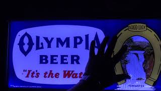 60 year old olympia beer sign led upgrade