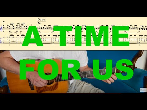 A TIME FOR US Romeo and Juliet Tutorial for Guitar TABs + Score