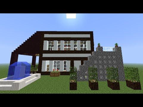 Minecraft tutorial como hacer una casa moderna y bonita for Como aser una casa moderna y grande en minecraft