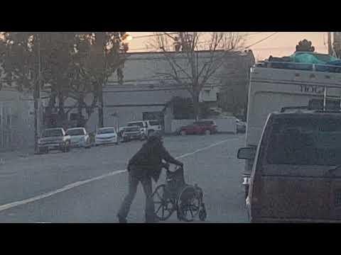 Wheelchair pushing booty Bandit thumbnail