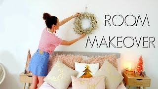 MY CHRISTMAS ROOM MAKEOVER 2018! Redoing My Room For Xmas.