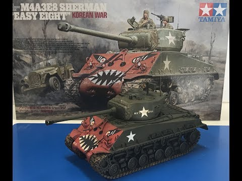 Building the New 1/35 TAMIYA M4A3E8 Korean war Sherman, easy eight