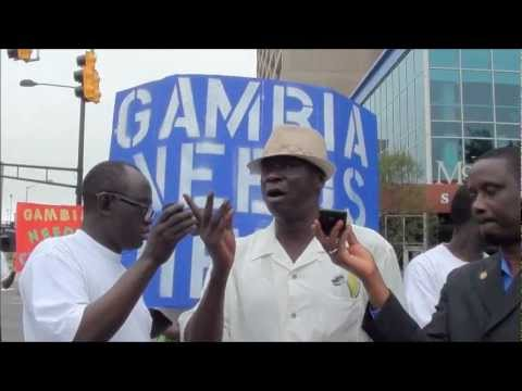 Yahya Jammeh   Gambias Dictator    PROTEST IN ATLANTA
