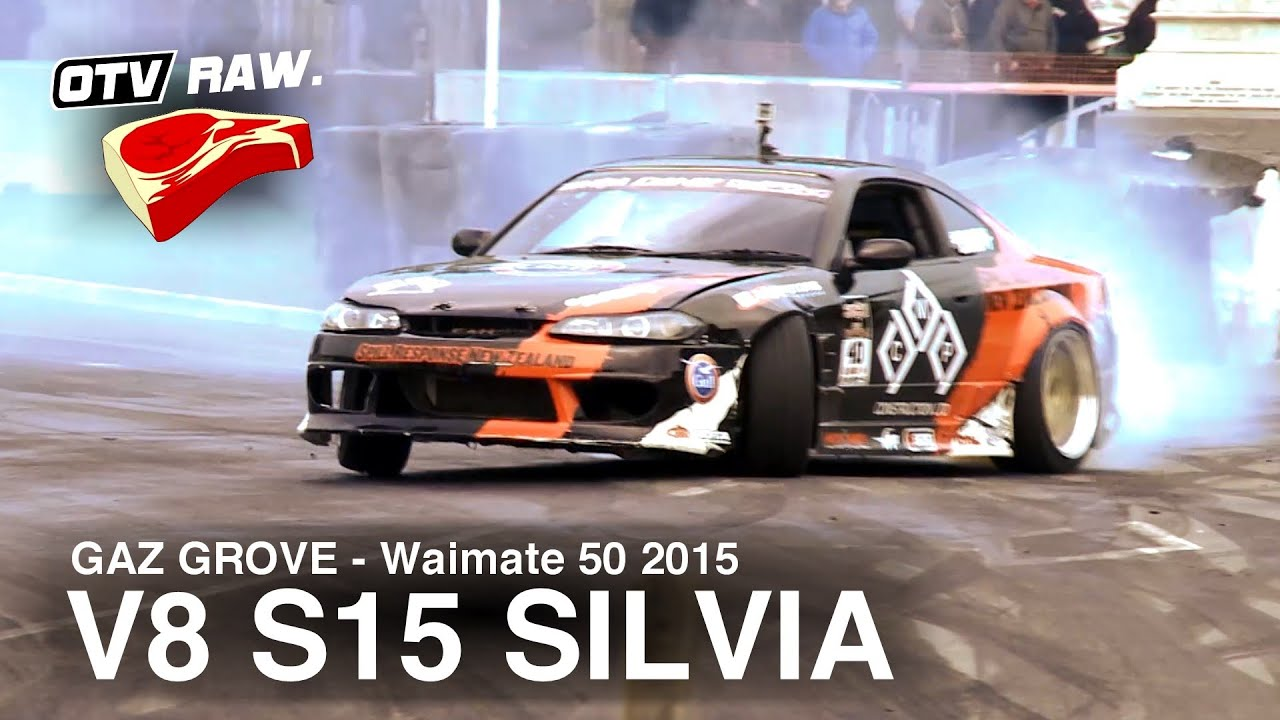 RAW: Gaz Grove - LS V8 Nissan S15 Silvia - D1NZ Waimate 50 (2015)