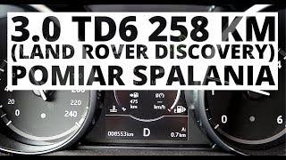 Land Rover Discovery 3.0 TD6 258 KM (AT) - pomiar zużycia paliwa
