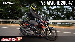 2019 TVS Apache RTR 200 4V Race Edition 2.0 ABS Review   Hindi   MotorOctane