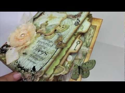 Scrapbooking Butterfly Garden Mini Album (BlueMoon Scrapbooking DT Project).m4v