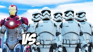 IRON MAN vs STORMTROOPERS ARMY - Iron Man VS Star Wars