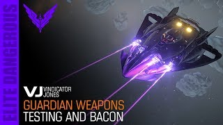 Guardians Weapons Testing (against NPC's) Elite Dangerous - Plasma Charger and Gauss Cannon