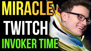 Miracle- Invoker Twitch Stream - Why Trilane Mid? Dota2