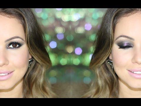 Maquiagem Noite | Smokey Eyes Preto com Brilho