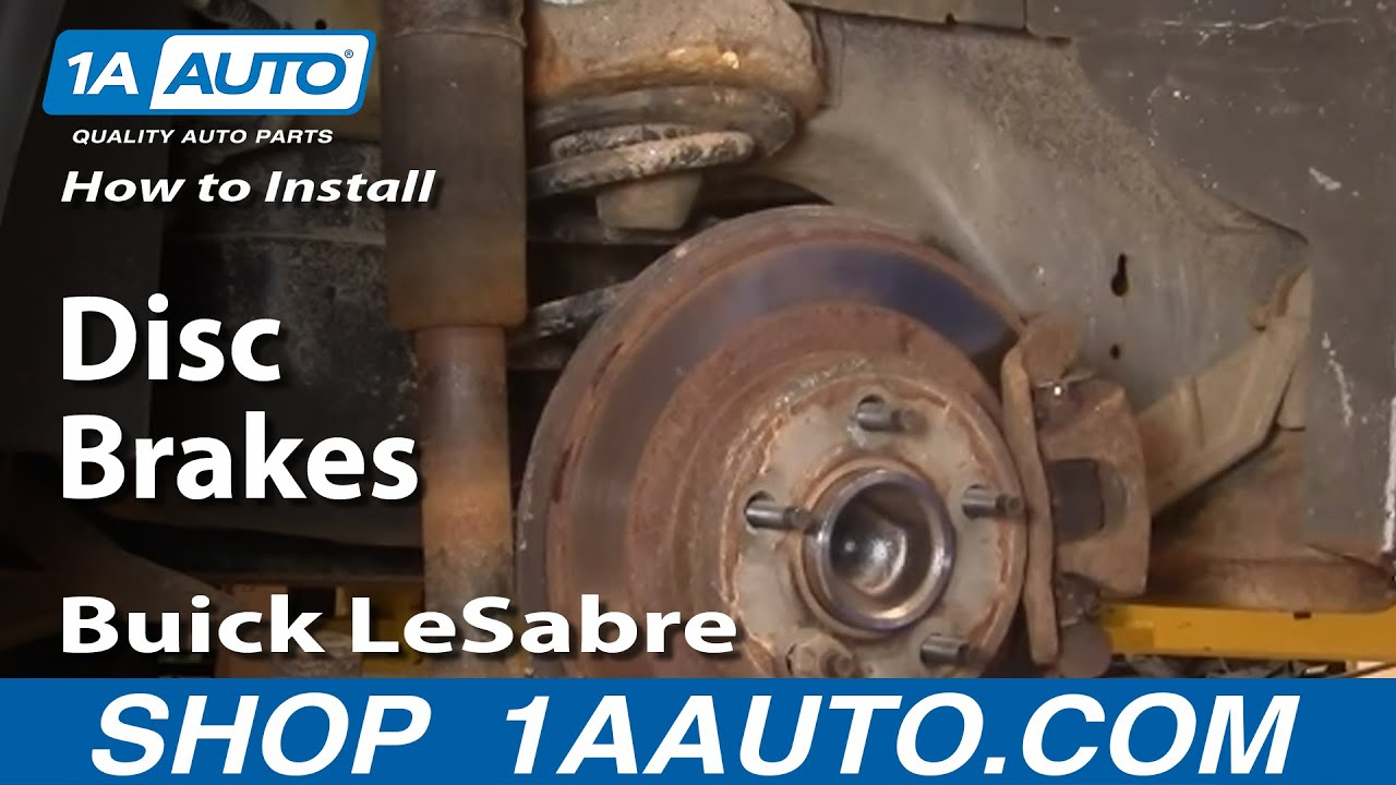 How To Install Replace Rear Disc Brakes Buick LeSabre 00