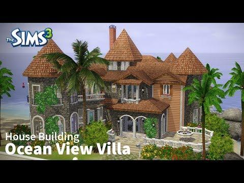 The Sims 3 House Building  - Ocean View Villa