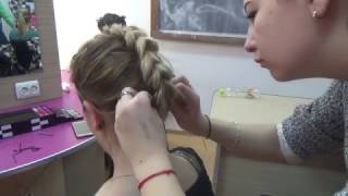 Hairstyle  made only with elastics tutorial