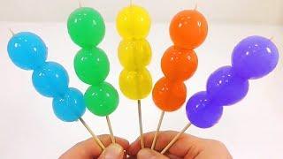Đồ chơi làm những que kẹo thạch  chùm ruột màu sắc rực rỡ