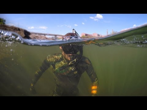 Found Boat Motor and Anchors while Swimming in River! (Freediving)
