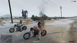 GTA 5 Online - Băng Cướp Vest Trắng Và Soái Ca Ma Tốc Độ (Ghost Rider)