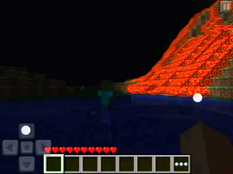 Minecraft PE Seed: Lava Fall And Water Fall!!!!!