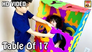 Table Of 17 | Learn Multiplication | 17 x 1 = 17 | 17 Times Tables | Fun & Learn Video for Kids
