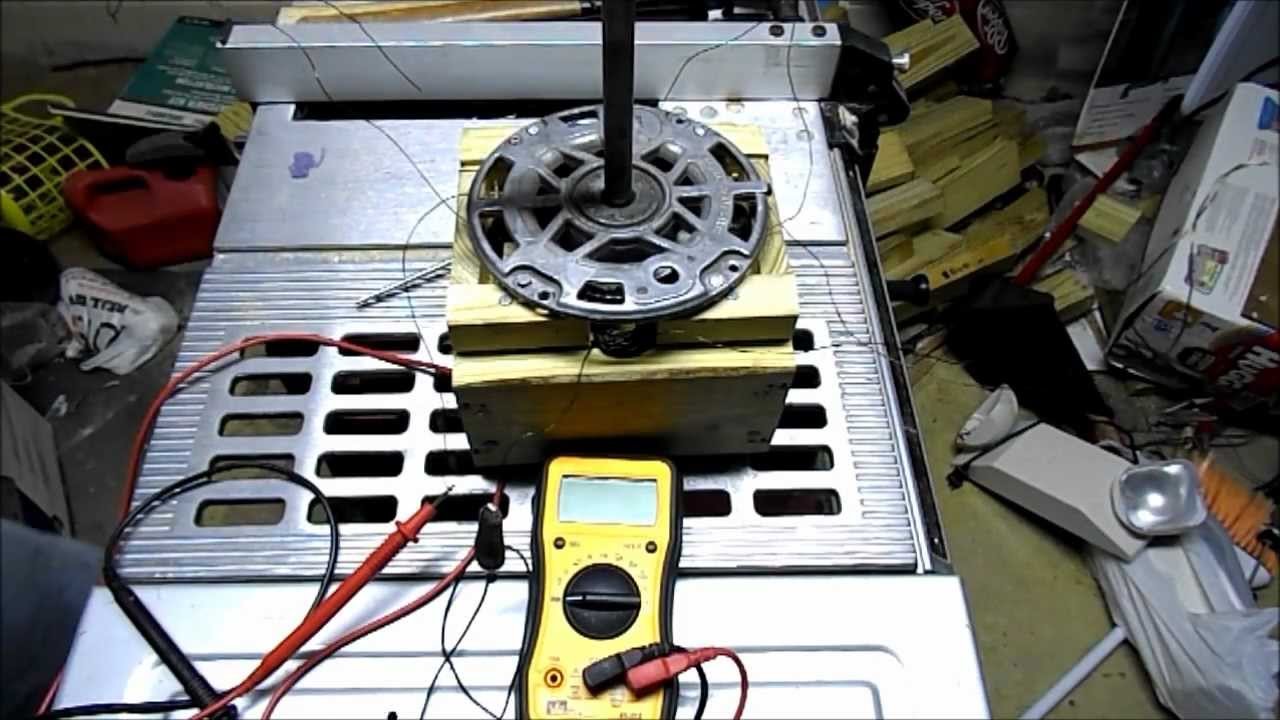 convert ac induction motor to a generator part5 youtube