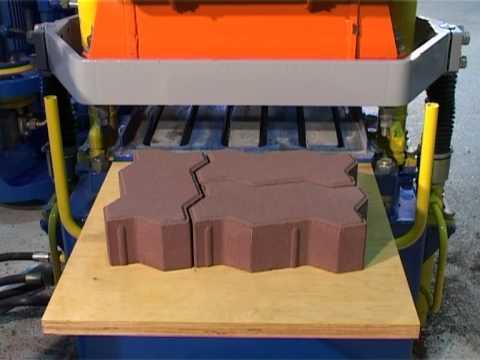 Станок для изготовления тротуарной плитки вибропрессованием