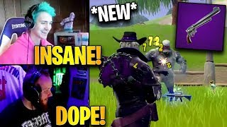 Ninja & Tim First Time Using *NEW* Six Shooter Revolver! | Fortnite Highlights & Funny Moments