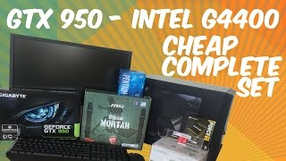BEST VALUE GAMING PC SET 2016 | GTX 950 | Intel G4400