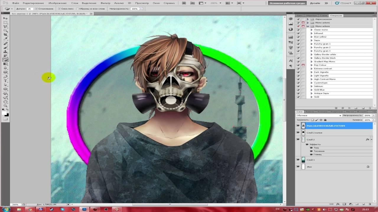Как сделать аватарку для вк в фотошопе cs5