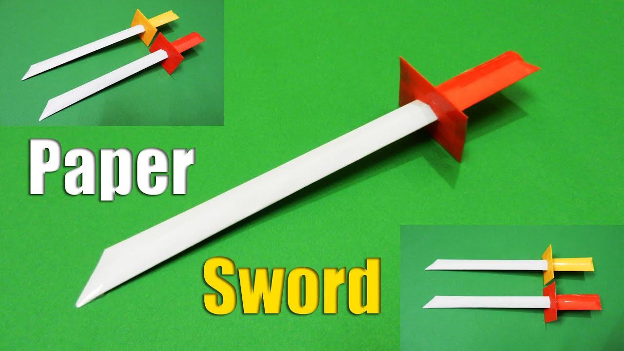 Как сделать из бумаги шпагу для мушкетера