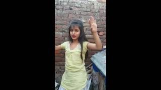 Beautiful girl dancing a desi hindi song