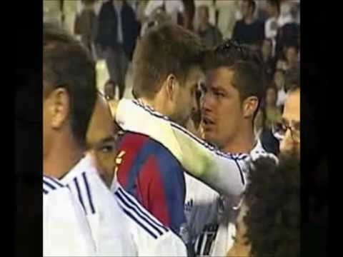 Cristiano Ronaldo & Gerard Pique So Close