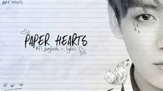 BTS Jungkook - Paper Hearts (Cover) | LYRICS