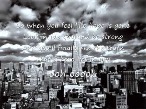 Mariah Carey - Hero  Lyrics video