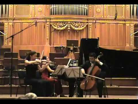 Piano Trio in G minor op. 15, B. SMETANA, 2. mov.