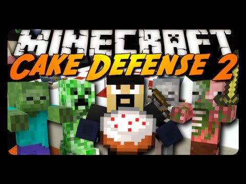 Minecraft Mini-Game: CAKE DEFENSE 2 - The Movie!
