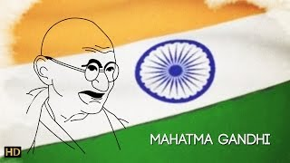 Easy Mahatma Gandhi Drawing for Kids   Kids Learning Video   Shemaroo Kids