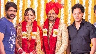 Shanthanu Bhagyaraj, Shaam, Bharath at actor Sharan Kumar and Neha Wedding