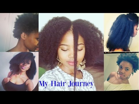 Natural Hair Journey : 3 & 1/2 years 4C Hair:  Relaxed to Natural Hair