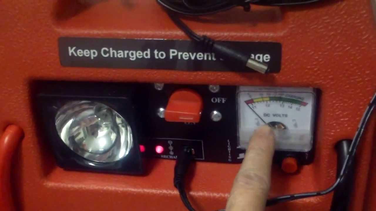 Cen Tech 3 In 1 Portable Power Pack Jump Starter Item